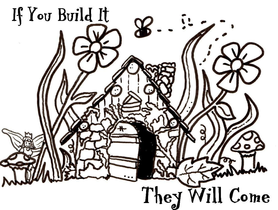 Free Digi For Sunday Fairy House Fairy Drawings Art Pages