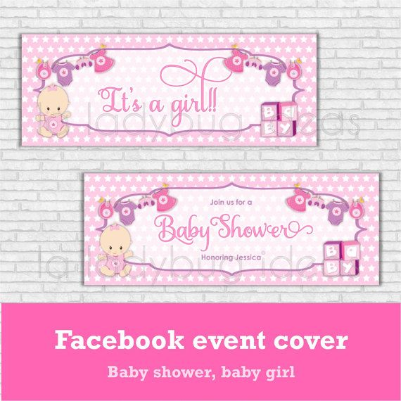 baby shower girl facebook cover pink facebook cover for baby
