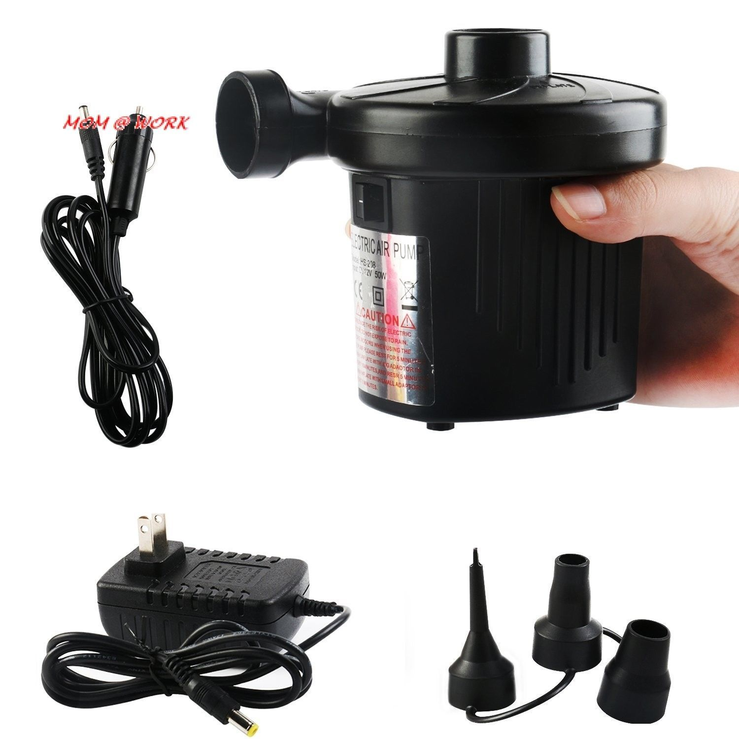 Electric air pump 110v ac12v dc quickfill for outdoor