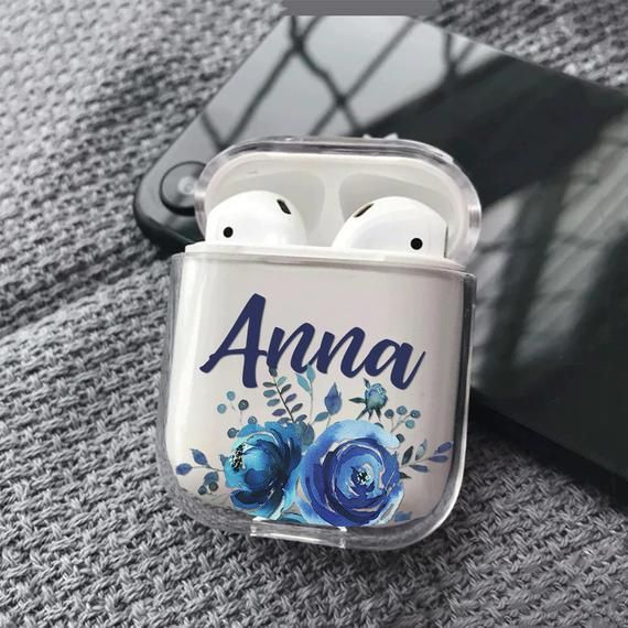 Custom Airpods Case Floral Personalized Cover For Apple Air Etsy Iphone Cases Floral Iphone Case Clear Iphone Case