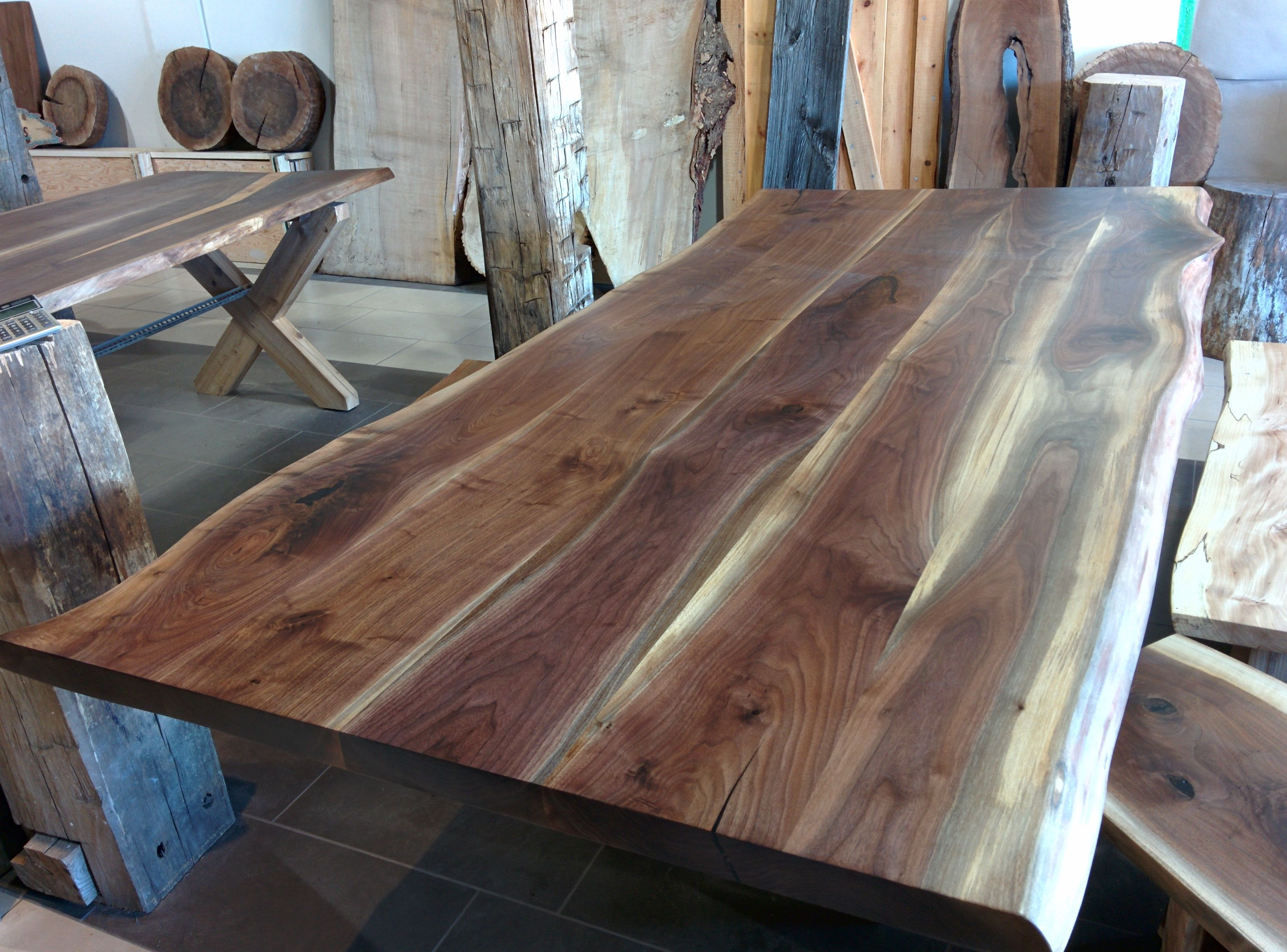 Black Walnut Kitchen Table Overmount Sink Dining Room Tables Home Design