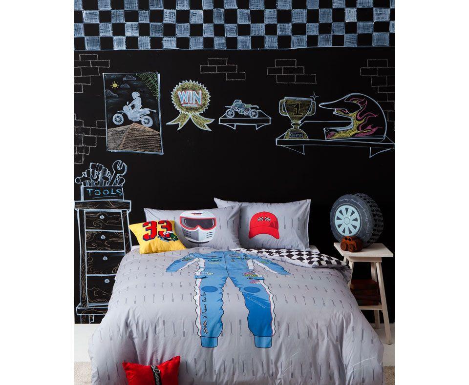 RACE CREW Q/SET Quilt cover sets, Beautiful bedding