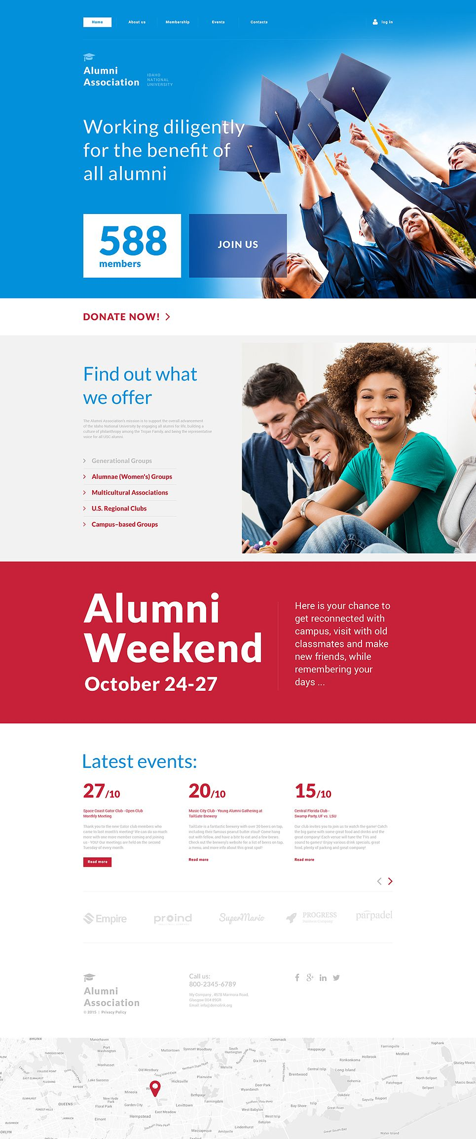 University Responsive Website Template #57990