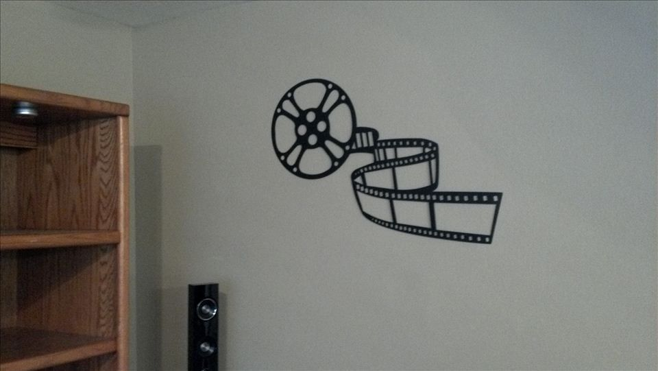 Home Theater Decor Movie Reel and Film Metal Wall Art