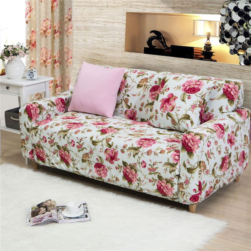 Great 2017 New Style Fashion Flower Sofa Cover Big Elasticity Couch Cover  Loveseat Machine Slip Resistant