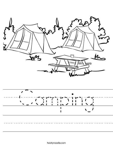 Camping Worksheet Printables Free Kids Camping Preschool Kindergarten Worksheets Camping themed worksheets