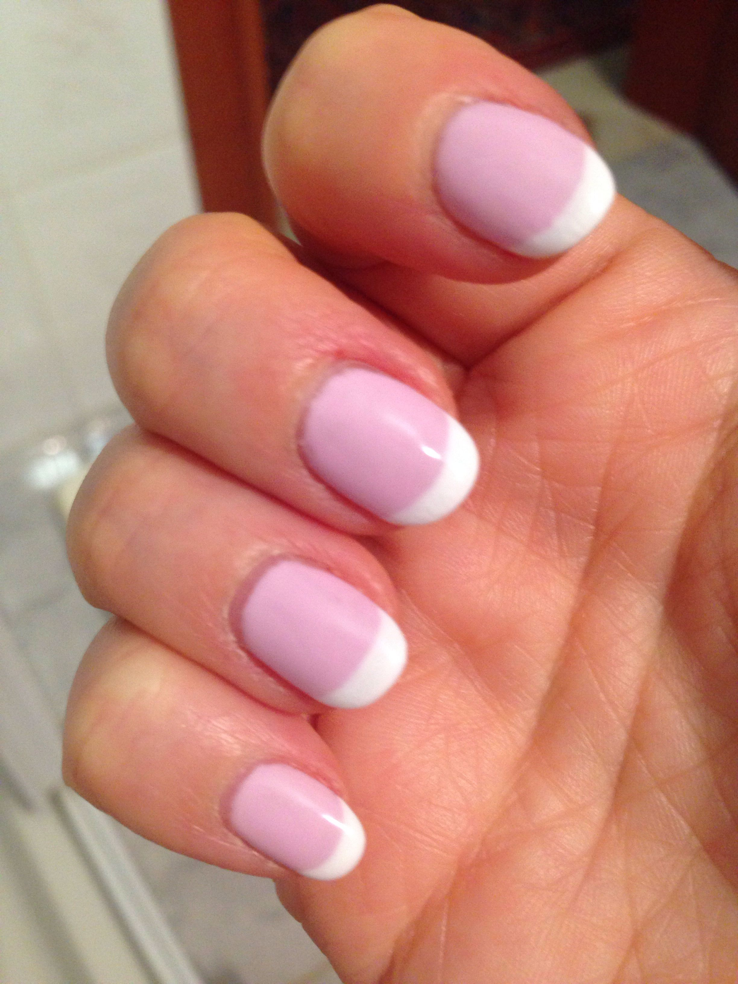 French pink and white nails | Nails | Pinterest | White nails and ...