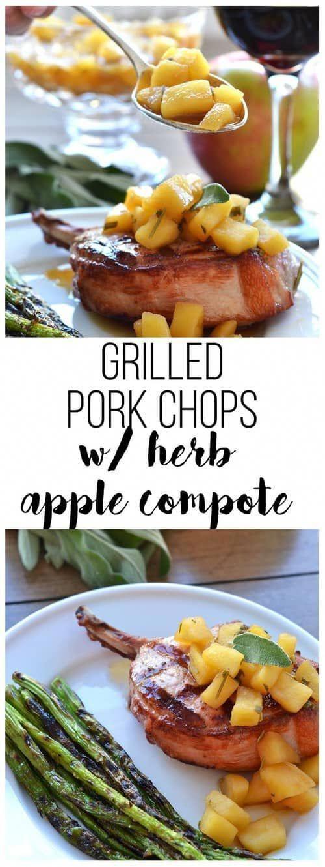 15 Whole30 Pork Chop Recipes: Grab a Knife and Pork Up! #grilledporkchops