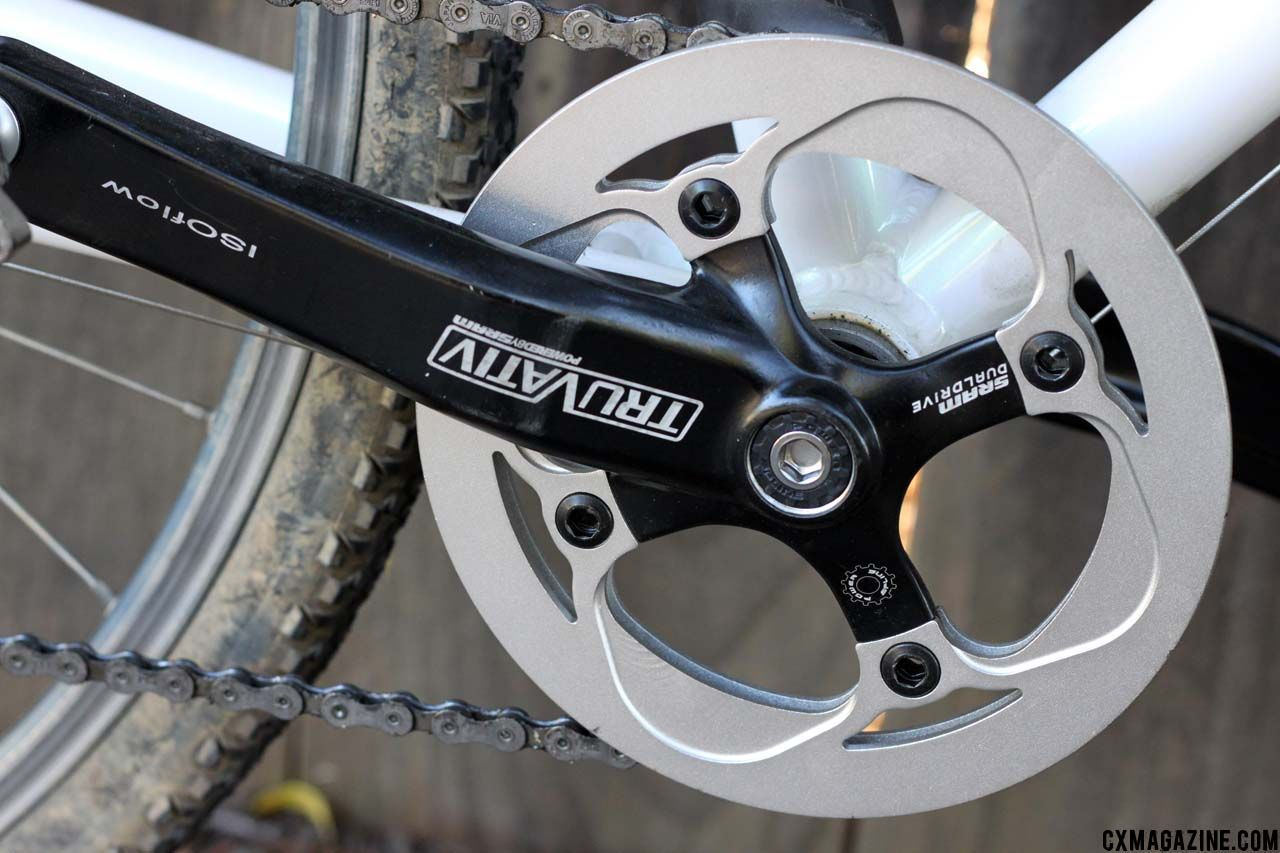 55090c147e6 The single ring Truvativ crankset with built-in chain guard and bottom  bracket cost less than  34. ©Cyclocross Magazine