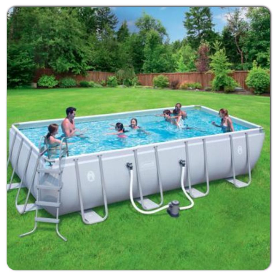 Coleman 18x9x48 Rectangle Pool Pool Party Swimming
