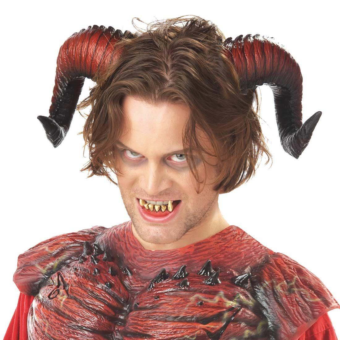 Adult Hellion Horns w// Teeth for Halloween Costume