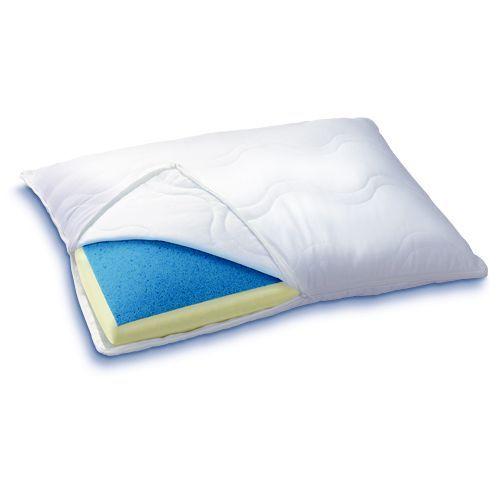 Serta Reversible Gel Memory Foam Pillow, White