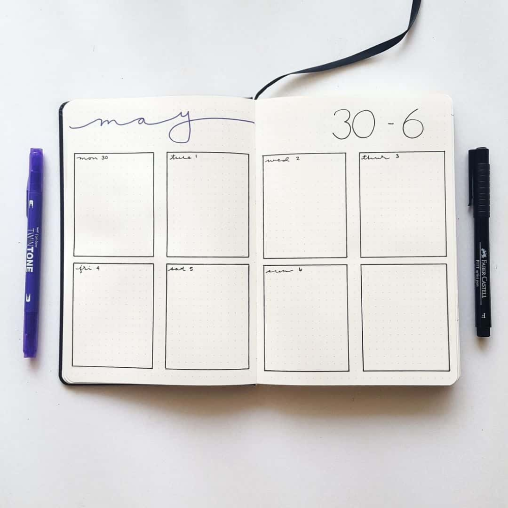 32 Easy Minimalist Bullet Journal Weekly Spreads to Try Right Now