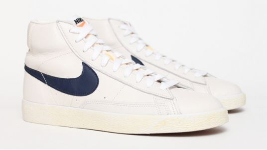 meet 0a5c5 86a04 Nike Blazer Vintage Leather - White   Blue