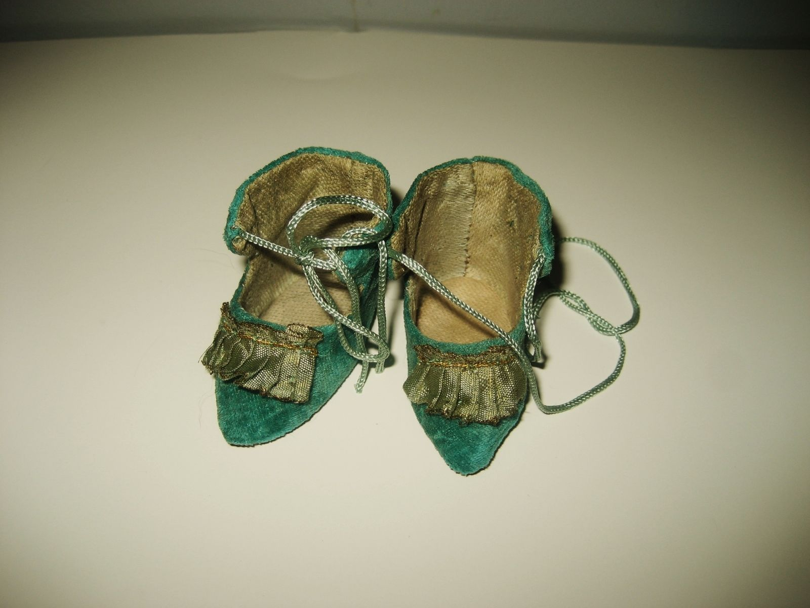 Adorable OLD Cloth Cotton Velvet Shoes FOR Small Antique French German Doll | eBay