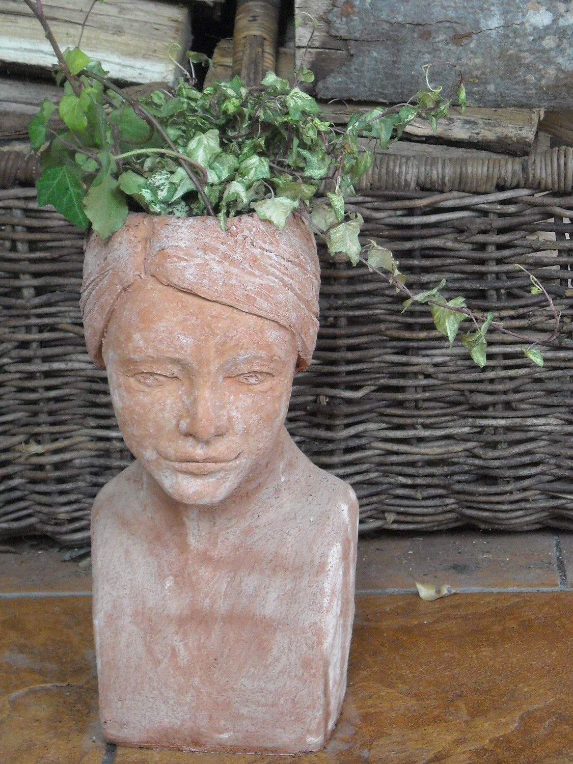 Planter Heads Heather Custom Order Head Planter Head Of Woman Red