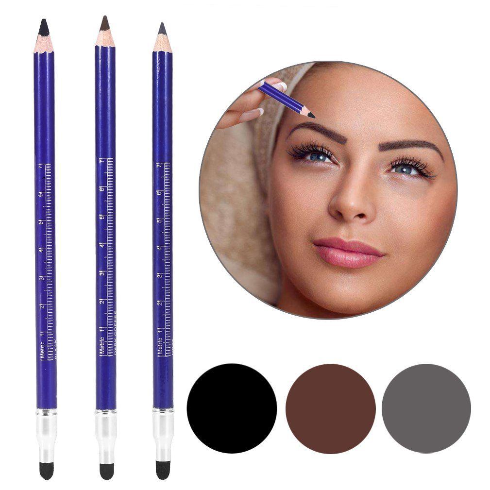 Eyebrow Patterns Positioning Pencil, 3Pcs Different Colors ...