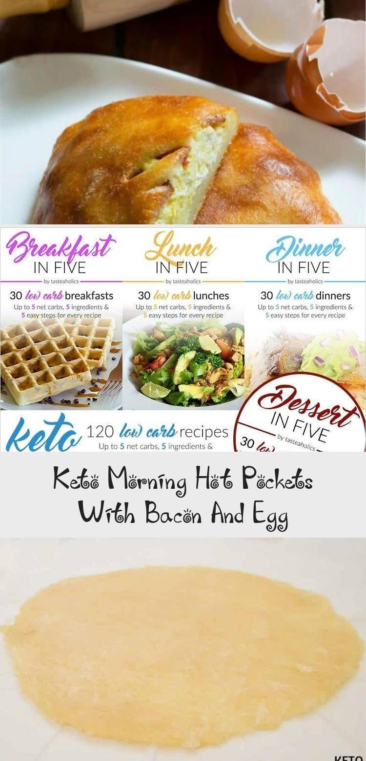 Keto Morning Hot Pockets With Bacon And Egg - health and diet fitness -  Tasty low carb keto diet ho...