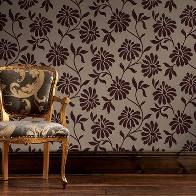 Ophelia Wallpaper By Barbara Hulanicki Brown Floral Wall Coverings By Graham Brown Ophelia Wallpaper Discount Wallpaper Wall Coverings Buy wallpaper online cheap