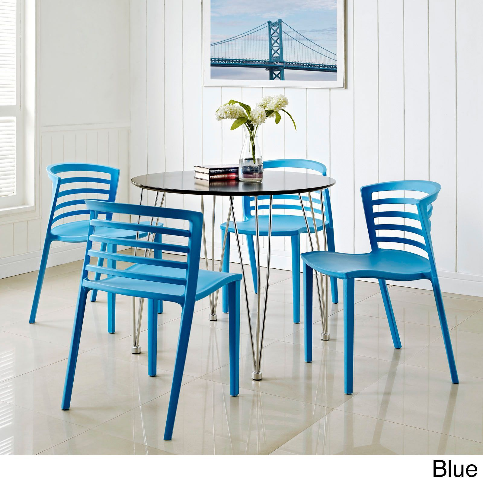 Contemporary Curvy Dining Chairs (Set of 4) - Overstock Shopping ...