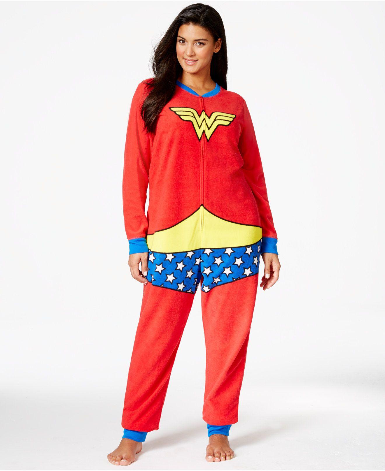 983484f1f523 Wonder Woman Plus Size Adult Onesie - Pajamas   Robes - Plus Sizes ...