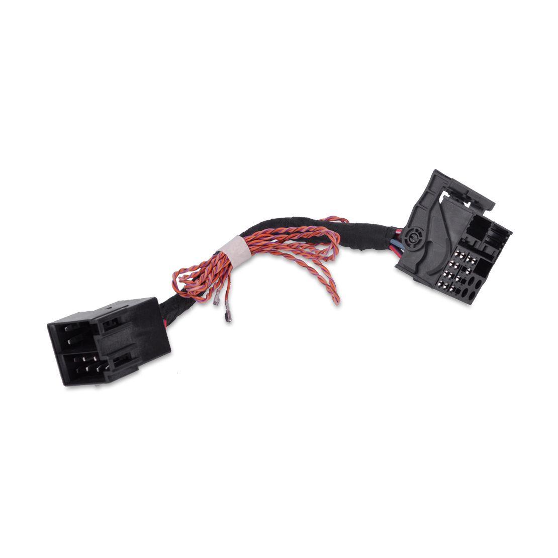 DWCX 1Pcs Car Black Plastic & Metal Harness Adapter Wiring