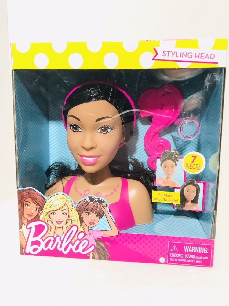 Barbie Doll Fab Friends African American Styling Head Deluxe Black Hair 7 Piece 886144614460 Ebay Barbie Dolls Barbie Ebay