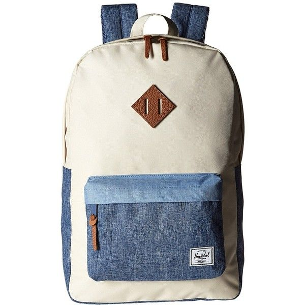 Herschel Supply Co. Heritage (Natural Chambray Crosshatch Limogess... ( 60)  ❤ liked on Polyvore featuring bags 45fcd53e56475