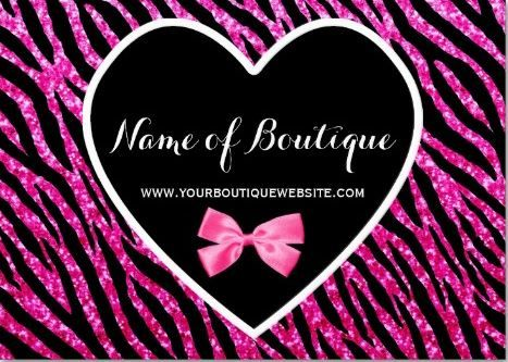 Pink and black glam zebra glitter boutique business cards a pink and black glam zebra glitter boutique business cards a glitzy pink and black boutique reheart Gallery