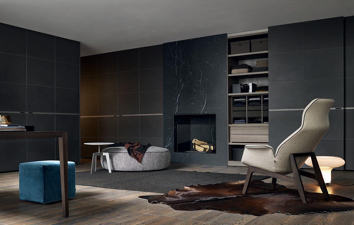 Living Room Ideas Nz poliform: wardobe (bangkok) with leather doors http://www