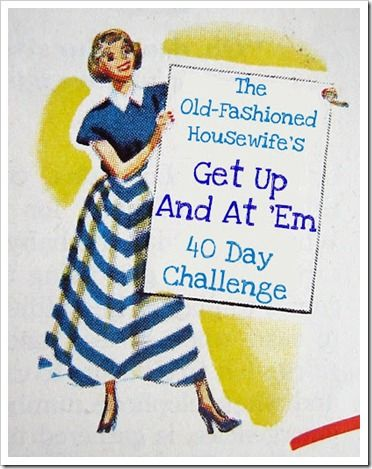 The Old Fashioned Housewife's Get Up and At 'Em 40 Day Challenge...fun little blog