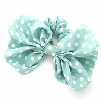 Mint Bow Hair Scrunchies