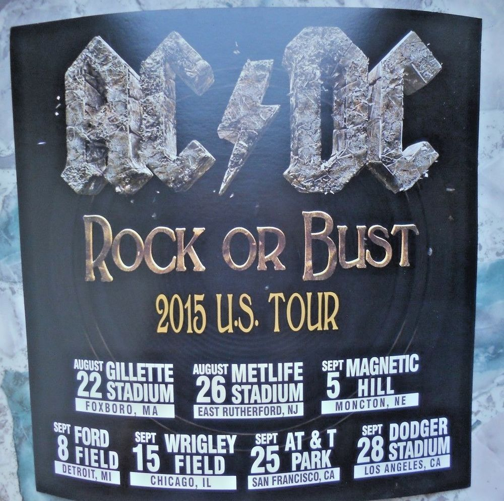 Ac Dc 2015 Rock Or Bust Tour Record Store Promo Ad Acdc