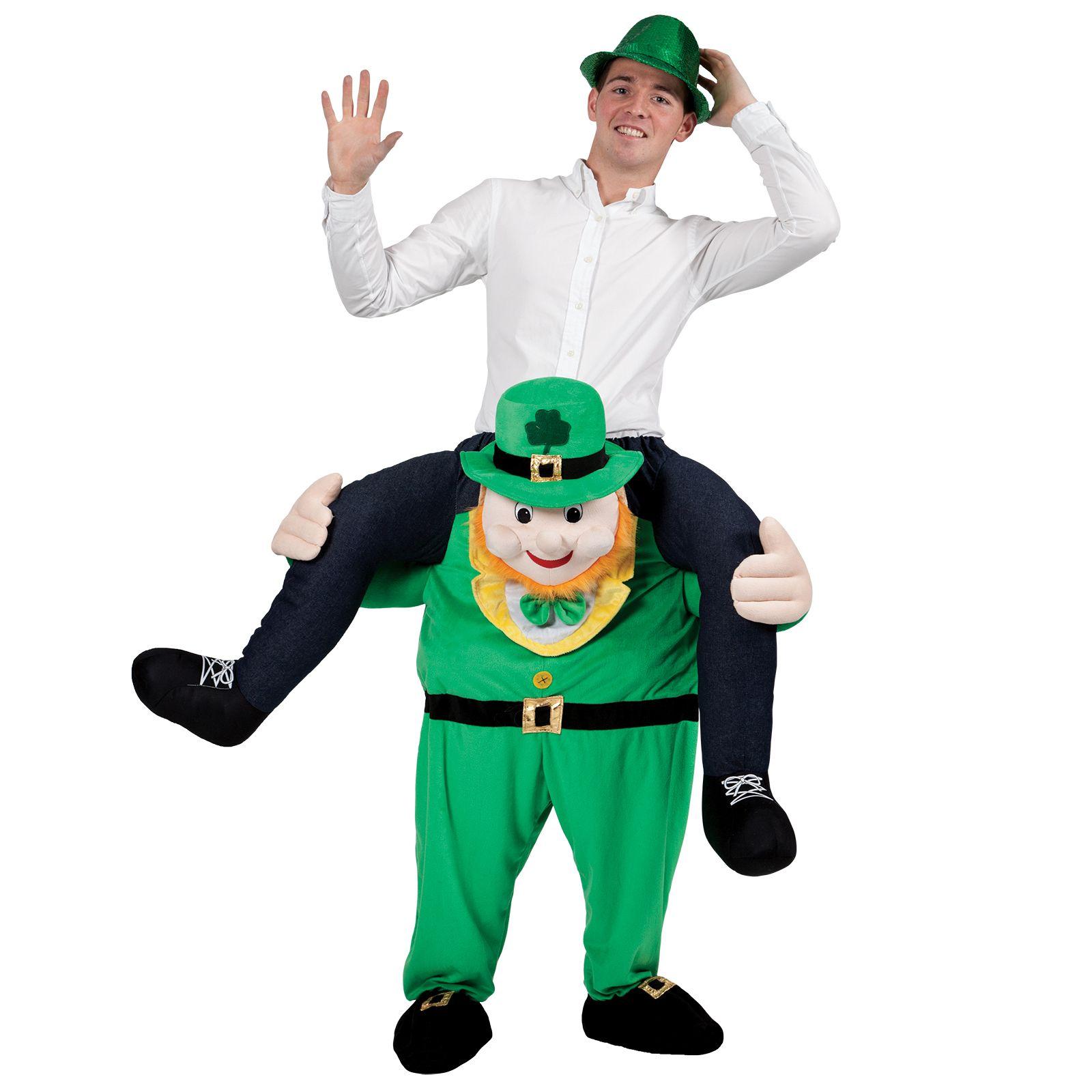 Ride On Green Lucky Leprechaun Novelty Piggy Back Fancy Dress Up ...