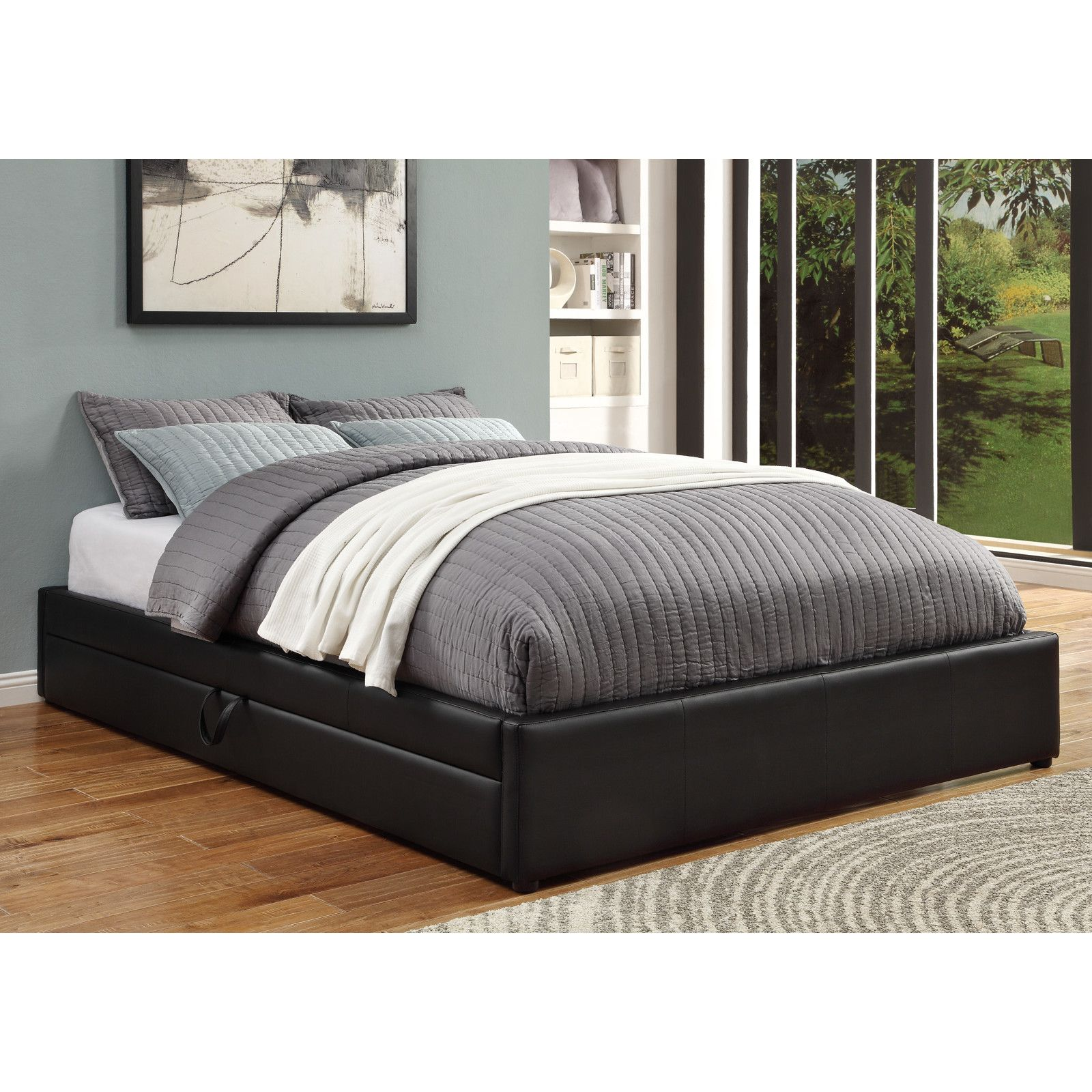 Upholstered Storage Platform Bed Storage Bed Queen Upholstered