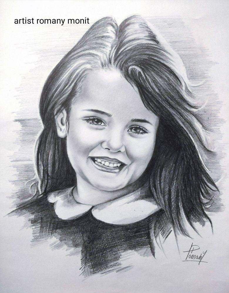 رسم بورتريه بالقلم الرصاص Art Female Sketch Female