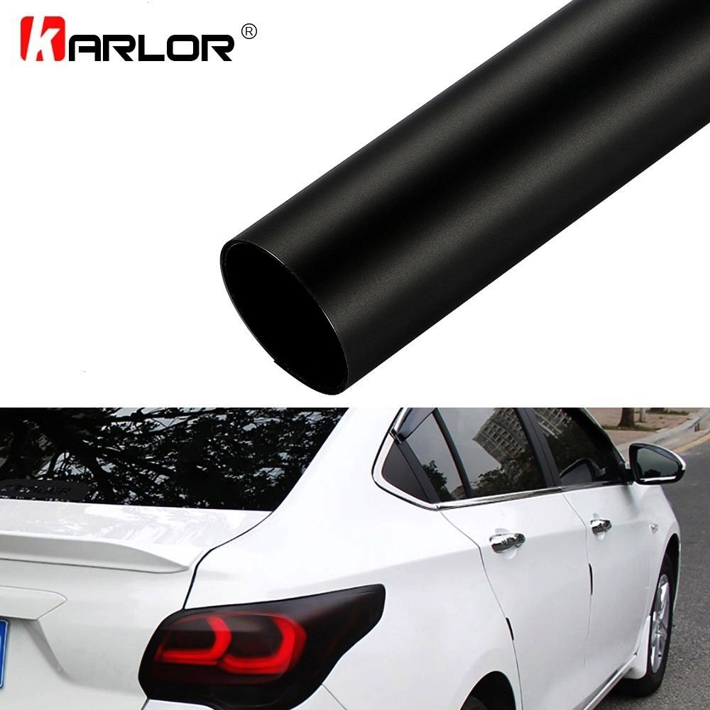 our lastest 30*100cm Matt Black Automobiles Car Light Headlight Taillight Tint Vinyl Film Sticker S
