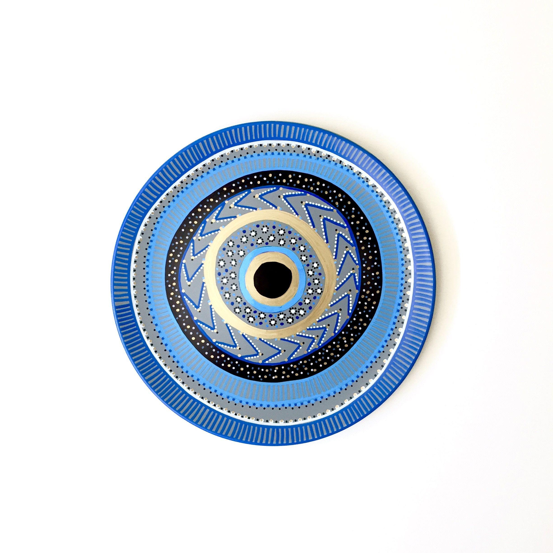 Evil Eye Decor - Blue Evil Eye Plate - Greek Evil Eye - Wall Decor - Mandala - Mandala Decor - Evil Eye Art - Home Decor - Wall Hanging by biancafreitas on Etsy