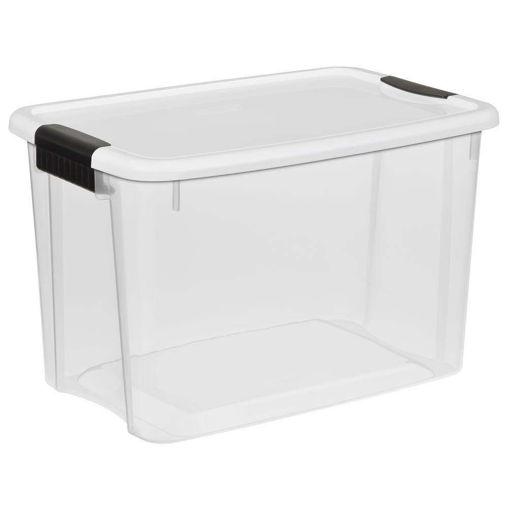 Sterilite 30 Qt Ultra Storage Box 19859806 In 2020 Plastic Container Storage Clear Plastic Storage Containers Plastic Storage