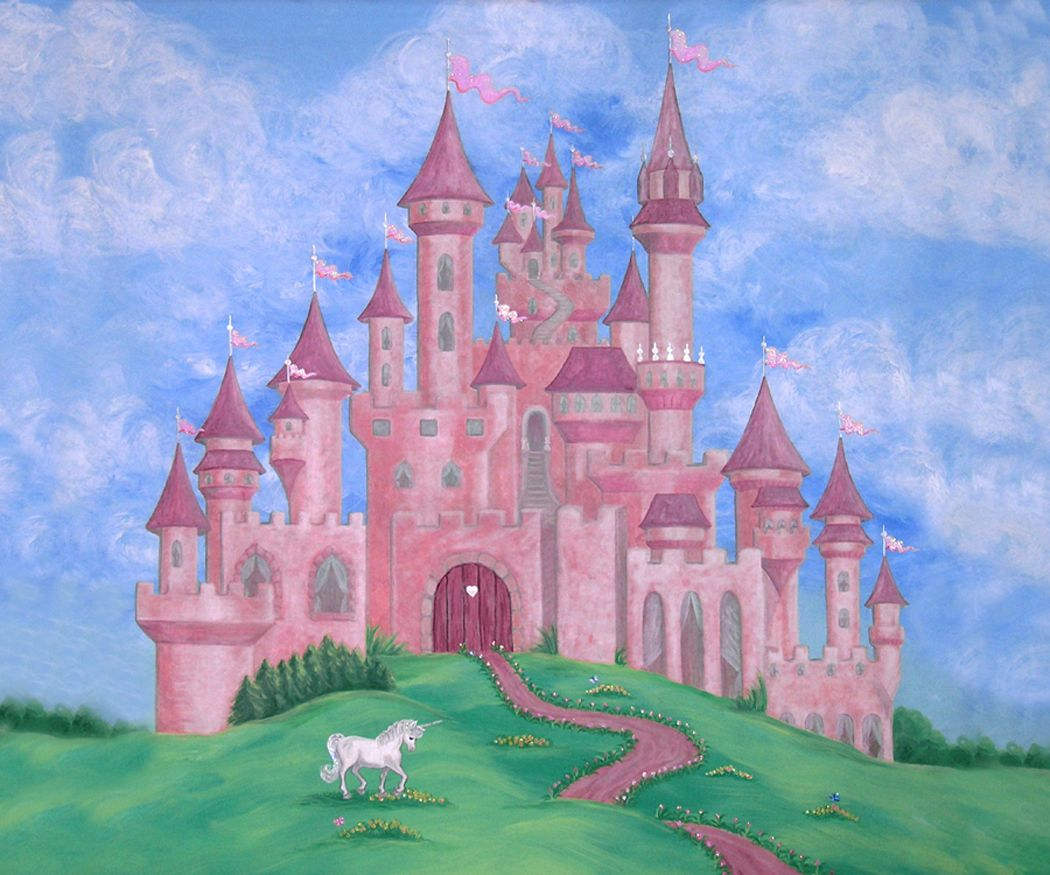 Disney castle wall murals home design nursery murals u0026 nursery room wall hangings adorable nursery murals and hand painted murals for amipublicfo Gallery