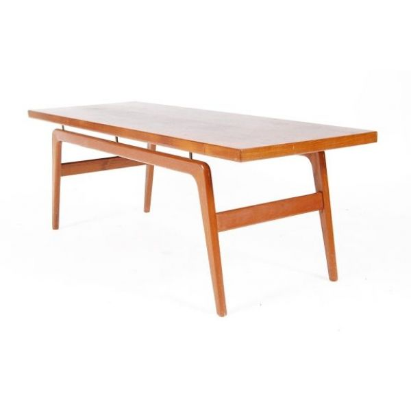 Danish Teak Coffee Table With Floating Top