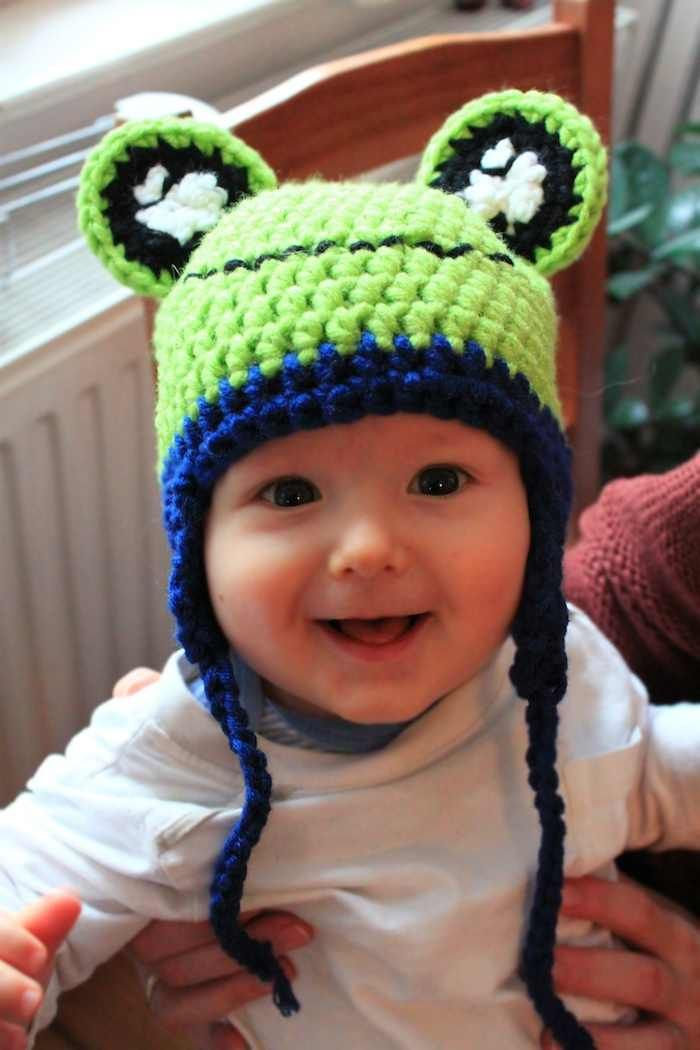 DIY-Anleitung: Baby-Froschmütze selber häkeln via DaWanda.com | Diy ...