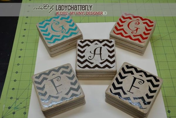 Vloertegels Keuken Karwei : Tile Coasters with Vinyl Design