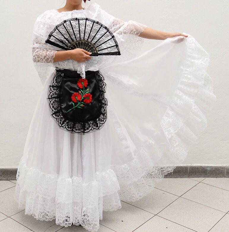 Vestido De Veracruz Escolar Vestido De Veracruz Vestidos Mexicanos Para Nina Traje De Mariachi Mujer