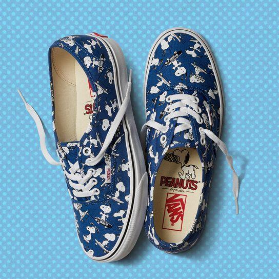 Vans X Peanuts Authentic Shoes | Blue