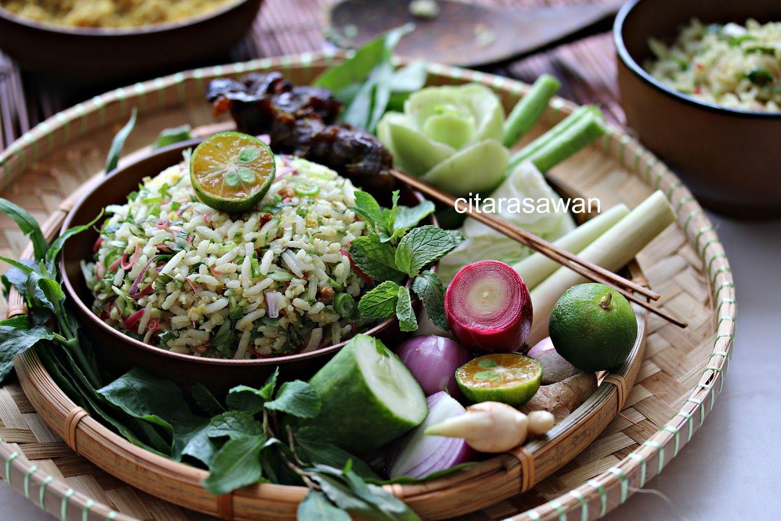 Nasi Ulam Kelantan Resepi Terbaik Makanan Dan Minuman Makanan Serikaya