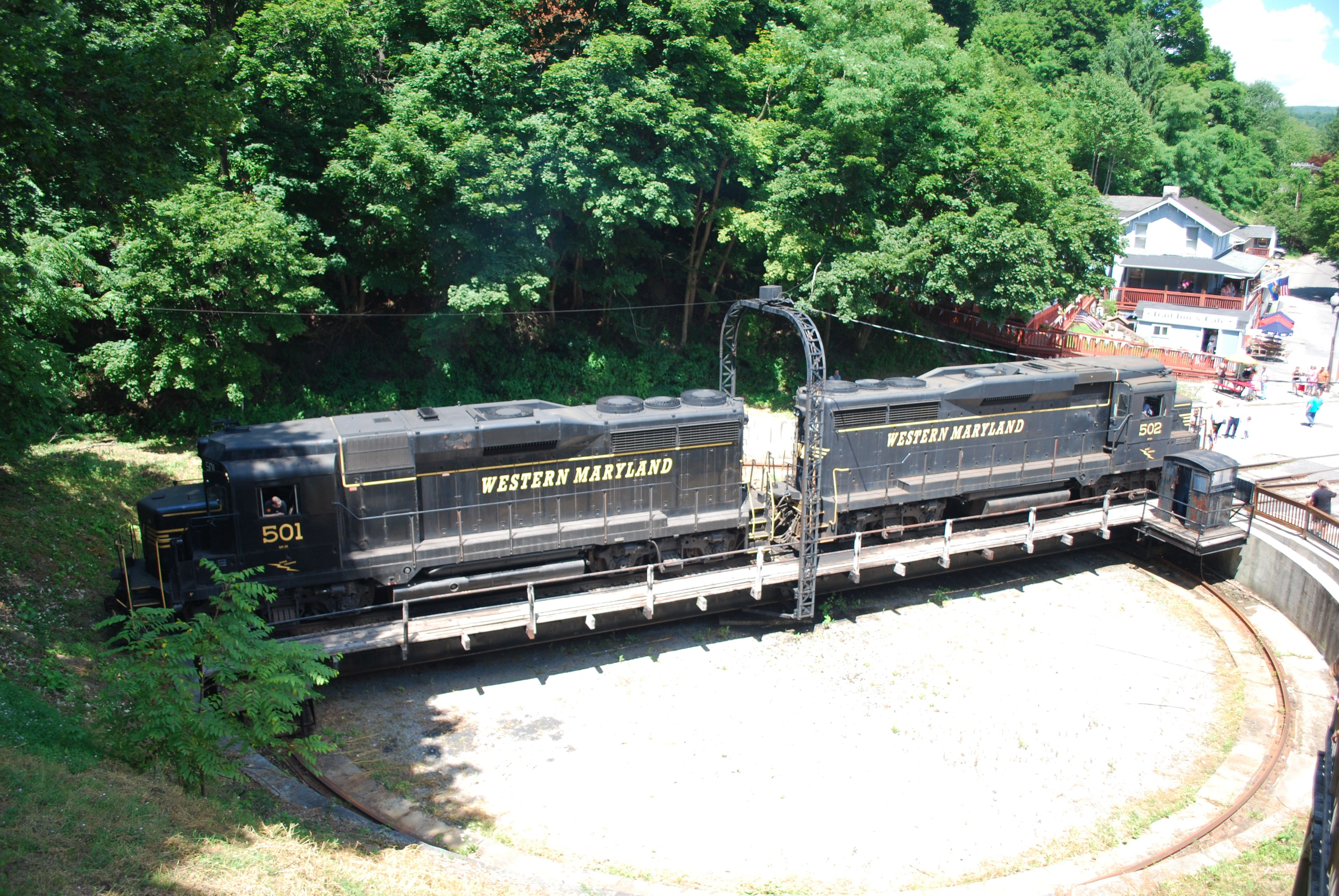 Turntable at Frostburg depot, Western Maryland Scenic
