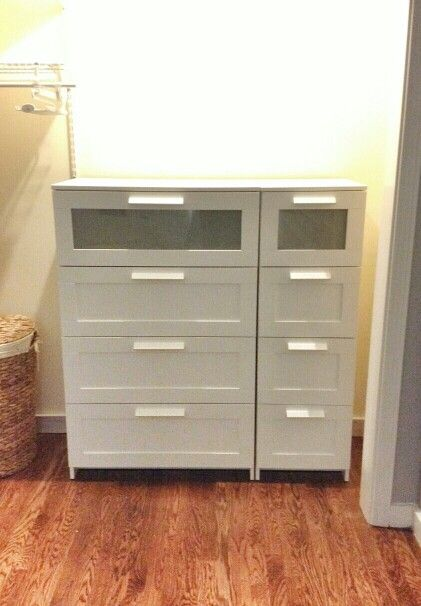 Ikea Narrow 4 Drawer Brimnes Dresser And Wide 4 Drawer Brimnes Dresser