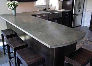 Basement Bar Composite That Mixes With Concrete To Give Carbon Fiber Like Strength Concrete Countertops Kitchen Concrete Kitchen Counters Concrete Kitchen