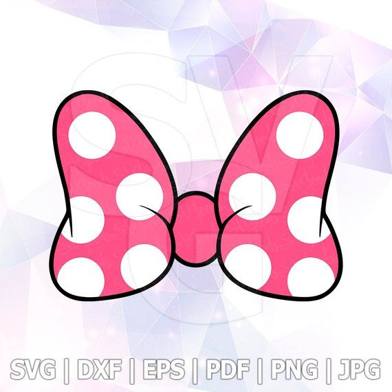 Minnie Mouse Bow Ribbon LAYERED SVG DXF Vector Cuttable File Cricut Silhouette Cameo Vinyl Decal Cut File Disney Printable Design Iron on